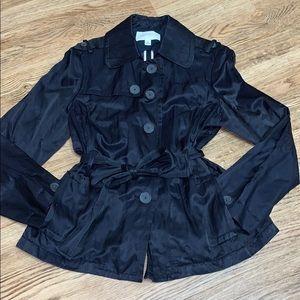 Banana Republic Black Trench Coat Size XL